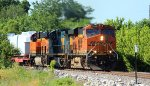 BNSF 7433 heads up the memgal at old monroe mo.