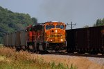 BNSF 8823 leads a loaded slc coal sb.
