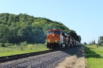 BNSF 6220 leads a loaded slc coal sb.