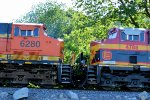 BNSF 6280 match up for a trip on this coal load.