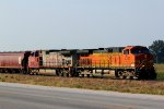 BNSF 4162 heads up the 836 local sb.