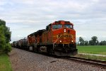 BNSF 4181 leads a freight train sb,