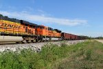 BNSF 9398 is 2nd out on a ore train.