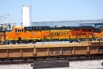 Side Cab Shot of BNSF 7011 on the ready line with the Hot California Sun Reflecting Off Her Very, Very Brand New BNSF Swoosh Logo Paint :))).