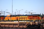 Rear Quartering Shot of BNSF 7011 as She Sits on the Ready Line at Commerce, Ca.