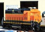 BNSF 2825 mid-repaint