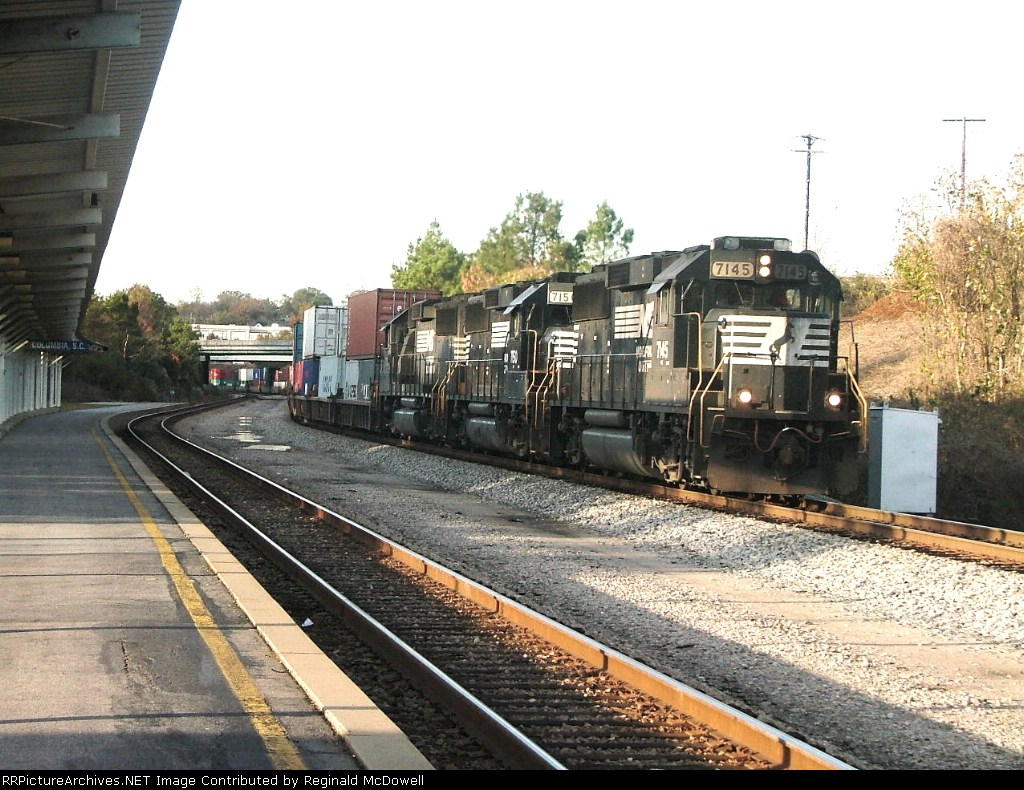 NS 238 passing the Amtrak Station