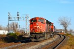 CN westbound stopped at Dorval