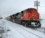 Snowy CN TankTrain eastbound