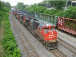 4 GMD units on a CN stack train