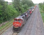 CN 8004/CN 5665/CN 8931 head west