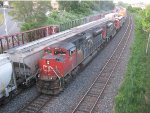 Westbound CN stack train