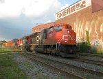 Three units leading a CN train getting rarer and rarer