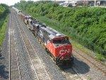 CN 2324 & CN 8857 east through Lachine