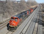 Heading west with a SD70M-2 and two GP9's