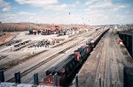 Turcot Yard - April 1996 (with two MLWs)
