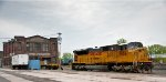 UP 8056 outside the Lackawanna Freight House (Now NYSW) in Utica NY