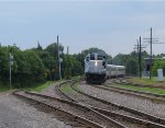 AMT geep heading east through Montreal West