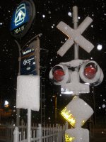 Sticky night snow!