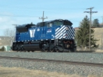 MRL 4308 SD70ACe heading down into the yard on St. Patty's Day