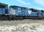 MRL 4315 SD70ACe helper unit behind coal drag