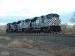MRL 4306 SD70ACe leading pushers over crossing