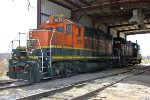 BNSF 3821, BARX 4331, EMD GP7, ex ATSF Geep now working as Bartlett Grain
