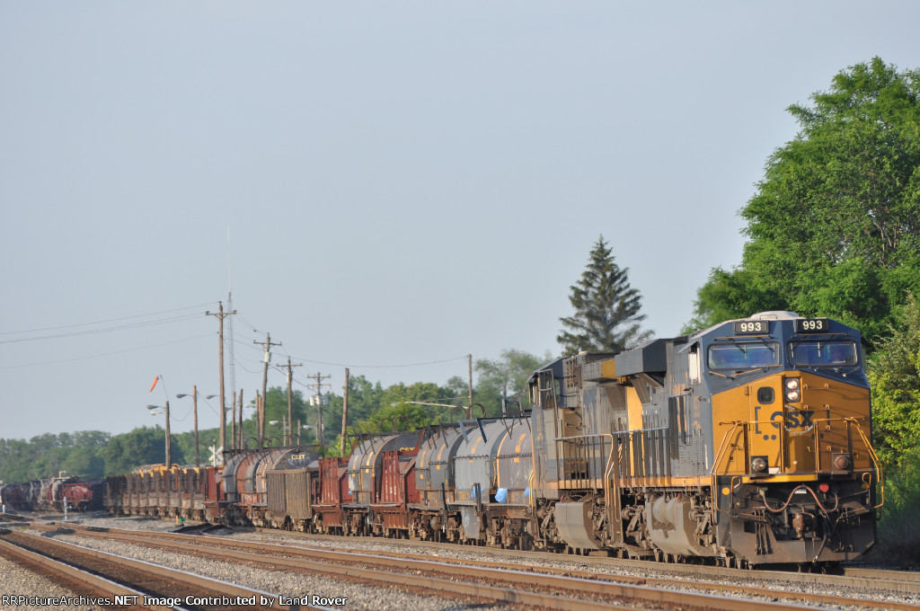 CSXT 993 On CSX K 587 Southbound Out Of The Old Yard
