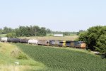 CSX #4848 Begins its Decent of the Steep Grade to Fort Atkinson