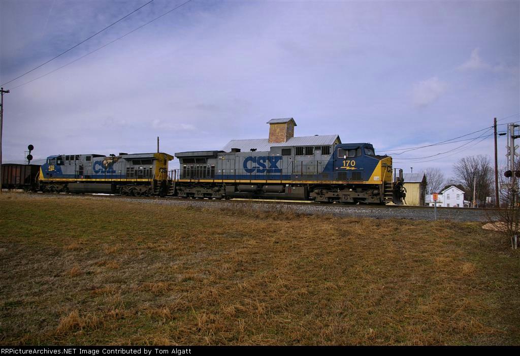 EB NS682 Coal Train at CP Lees Cross Roads