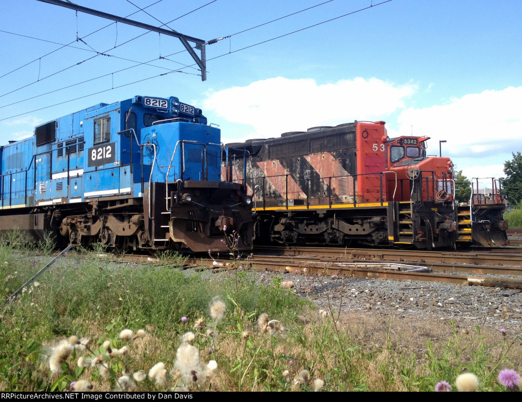 Ex Conrail and Ex CN power sit next to eachother