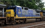 CSX C40-8 7623 in nice and clean YN2 trails 10th out on Q410-16