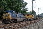 CSX CW40-8 7790 leads an 11 unit Q410-16