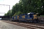 C770-05 brings CSX GP40-2 6406/CSX Road Slug 2200 to Woodbourne Yard