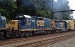 CSX Road Slug 2200/GP40-2 6406 now trail on Q418-05
