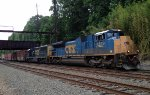 CSX SD70ACe 4849 leads an EMD duo on Q439-04