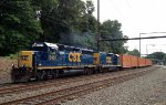 CSX GP40-2 6457/Road Slug 2230 on Q706-02
