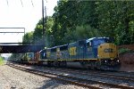 CSX SD60M 8773 leads Work Extra W035-22
