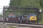 CSX 72 leading a train of empty coal cars