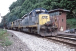CSX 8410 westbound by FN Tower