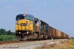 CSXT 7361 leads northbound coal mtys by milepost 214 approaching ACE