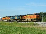 Blue Sky, Green Crops, BNSF Orange and...CSX Blue!