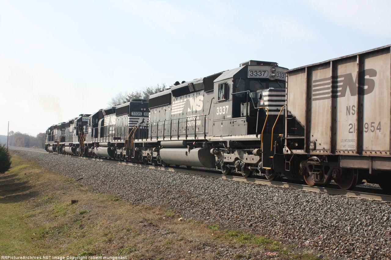 592 coal train east 12:45 pm