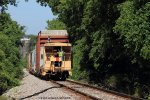 J760 approaches milepost 160 on the old L&N Scottsville Branch