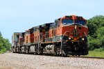 BNSF 1119 Leads a EB stack train on a hot June day.
