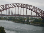 Vermonter #56 on the Hell Gate Bridge's main span