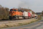 BNSF 7788 leads #I14 west by fellow VRFE-ers at Woods