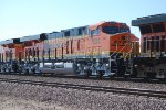 BNSF 7027 rolls east with BNSF 7024 behind Her with a Fresh Crew out of Barstow towards Needles, CA.