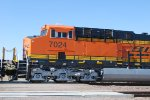 Side Cab Shot of BNSF 7024 as She rolls east as a #3 unit.