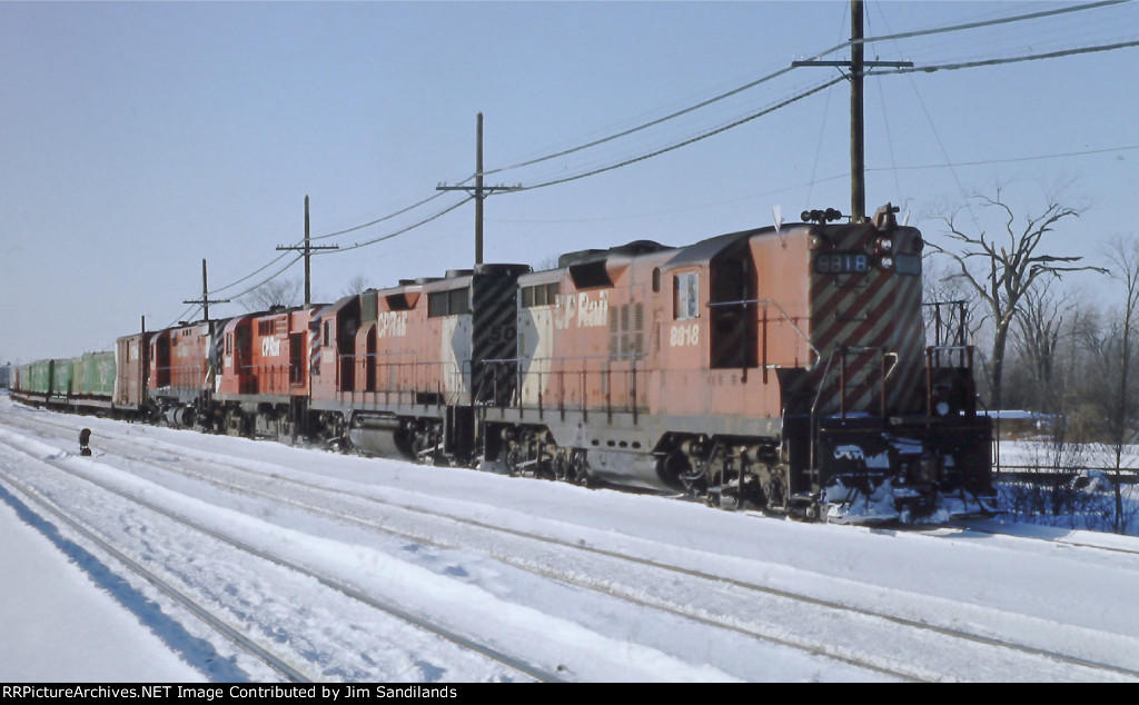 CP 8818, 5020, 8587 and 4219 at Lachine